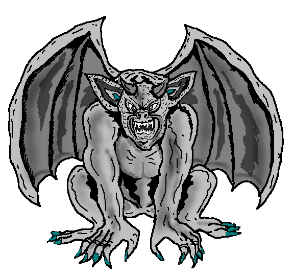 Gargoyle vector art. Collection of free gurgoyle
