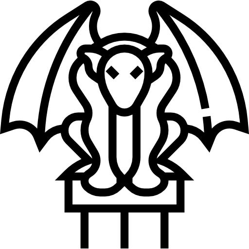 Free monuments icons icon. Gargoyle vector art jpg