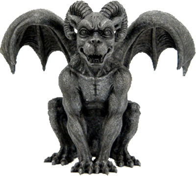 Gargoyle vector mythology. Collection of free gurgoyle