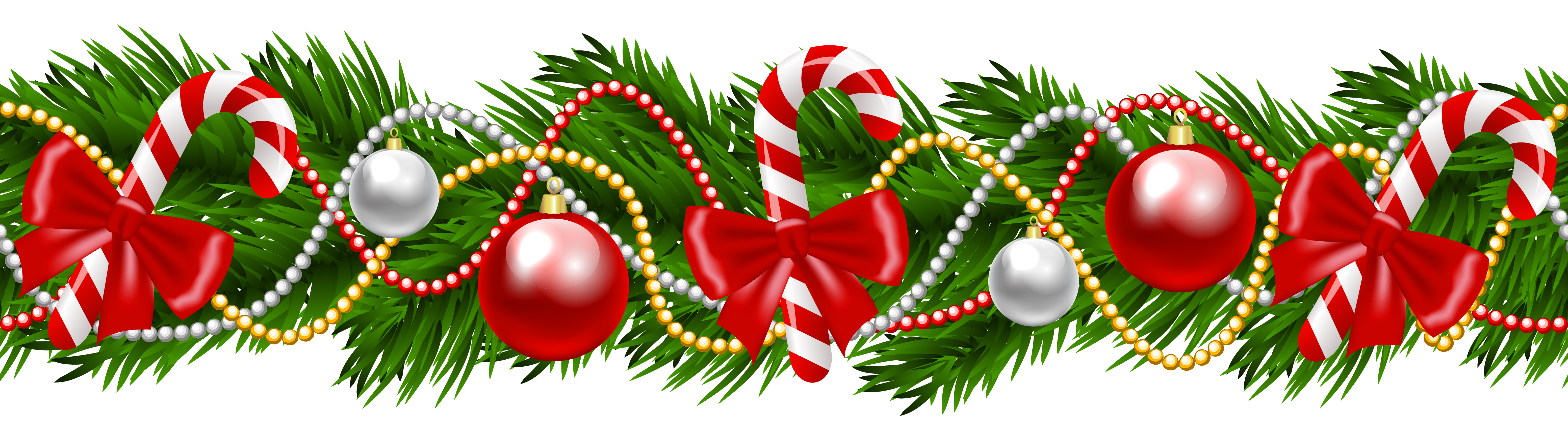 Garland border png. Collection of christmas