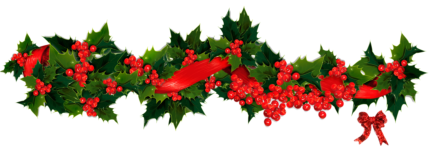 Holly garland png. Christmas images free download