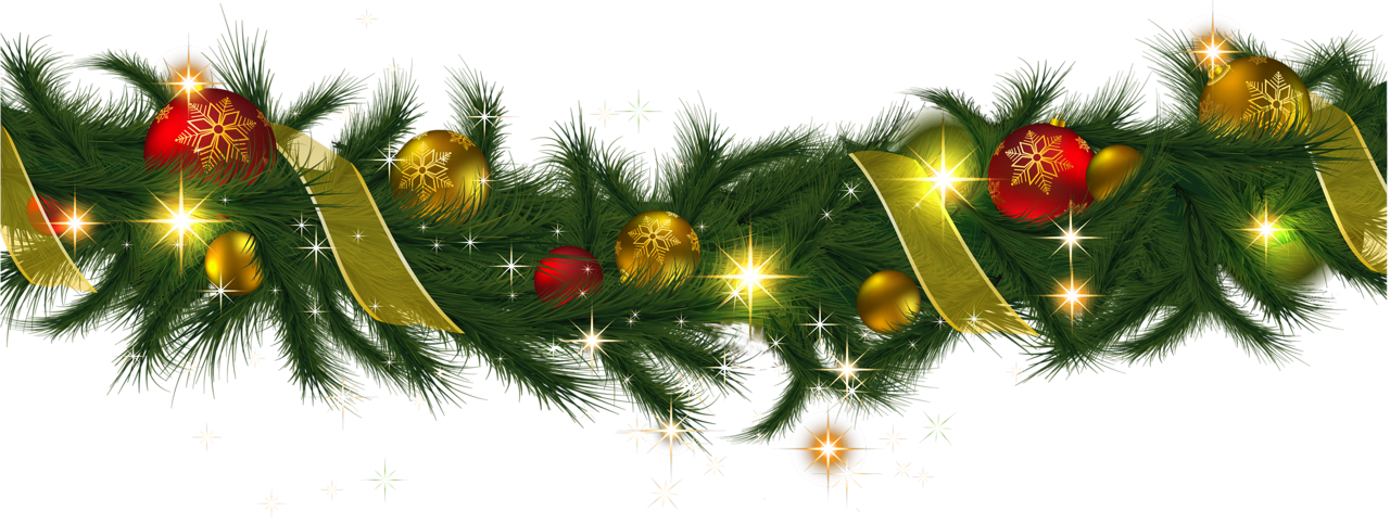 green garland christmas ornaments png
