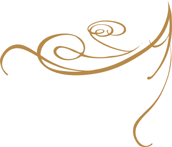 Gold swirl border design png. Decorative clip art at