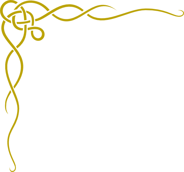 Garland clipart golden. Gold page borders border