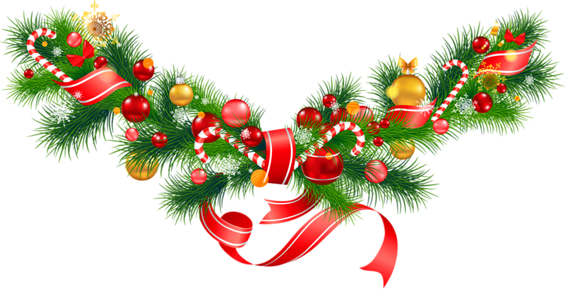 Christmas clipart transparent background. Free pine garland cliparts