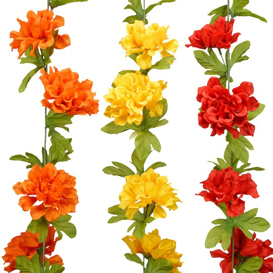 Garland clipart marigold. Find the assorted by