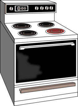 Glove cooking ranges microwave. Oven clipart picture black and white