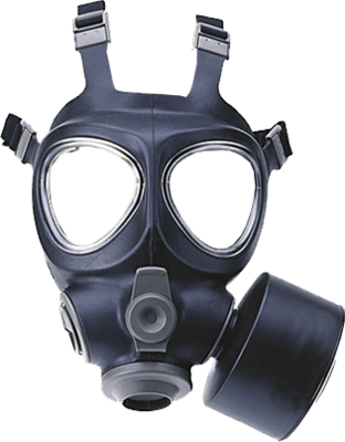 Gas mask png. Transparent stickpng