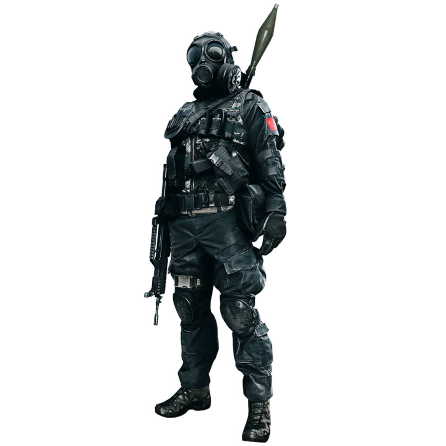 Bf4 soldier png. Gas mask soldiers yay