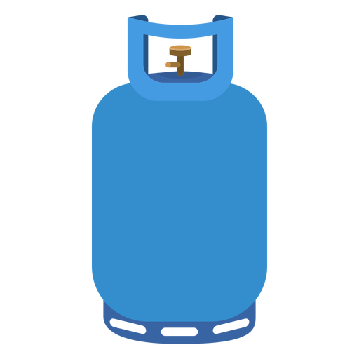 Blue propane tank illustration. Gas vector cylinder png black and white stock