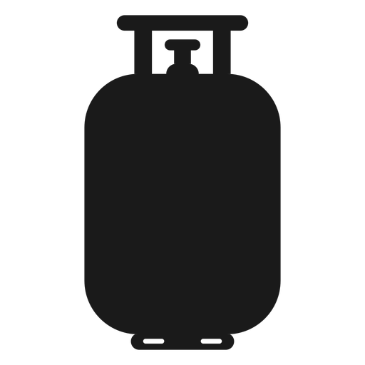 Gas vector cylinder. Propane tank silhouette transparent