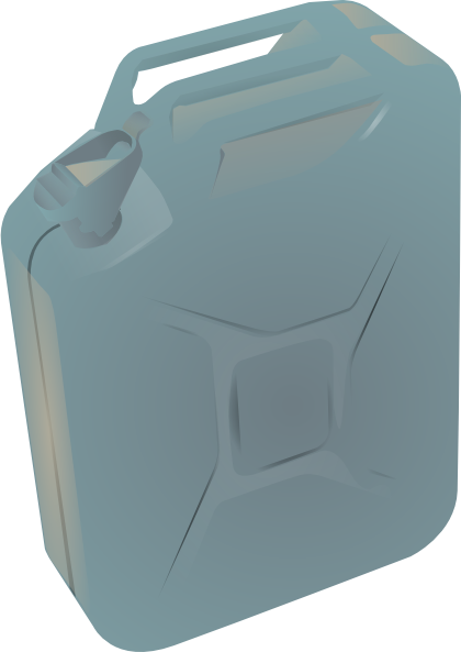 Gas vector canister. Container jug clip art