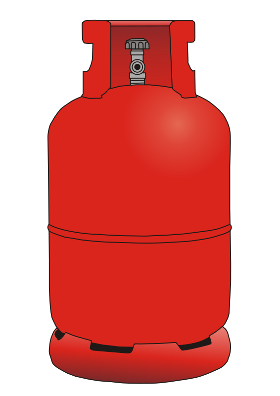 Gas vector cylinder. Collection of free gassing