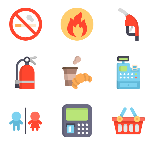 Gas vector icon. Icons free station