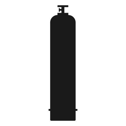 Gas vector silhouette. High pressure cylinder transparent