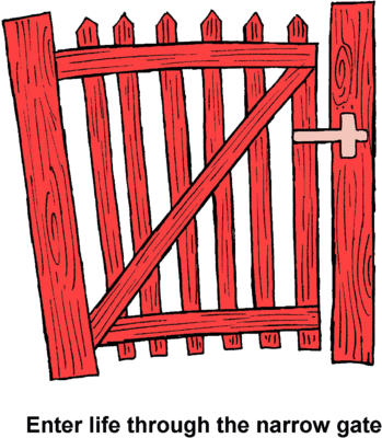 Path clipart narrow path. Image red gate enter