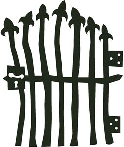 Gate clipart cemetery gates. Best tombstone images