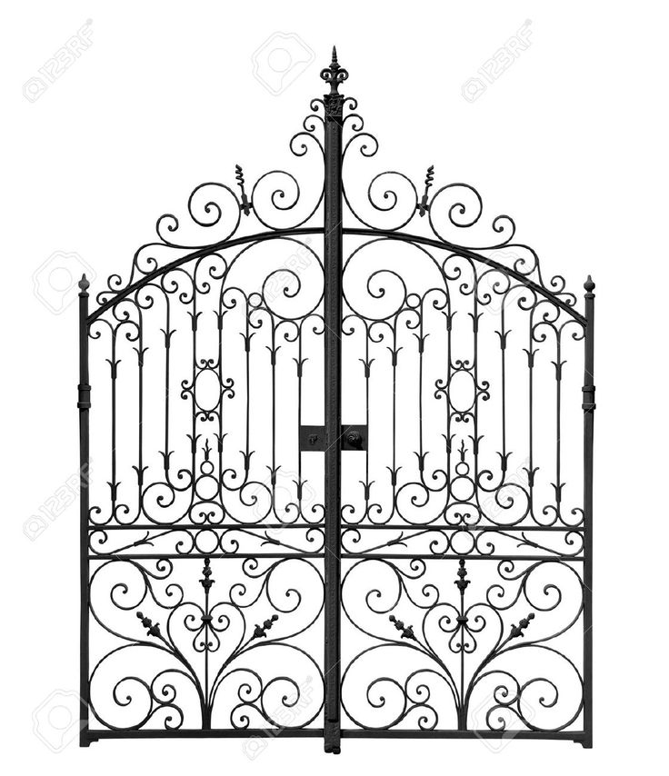 Gate clipart cemetery gates. Best wrought iron