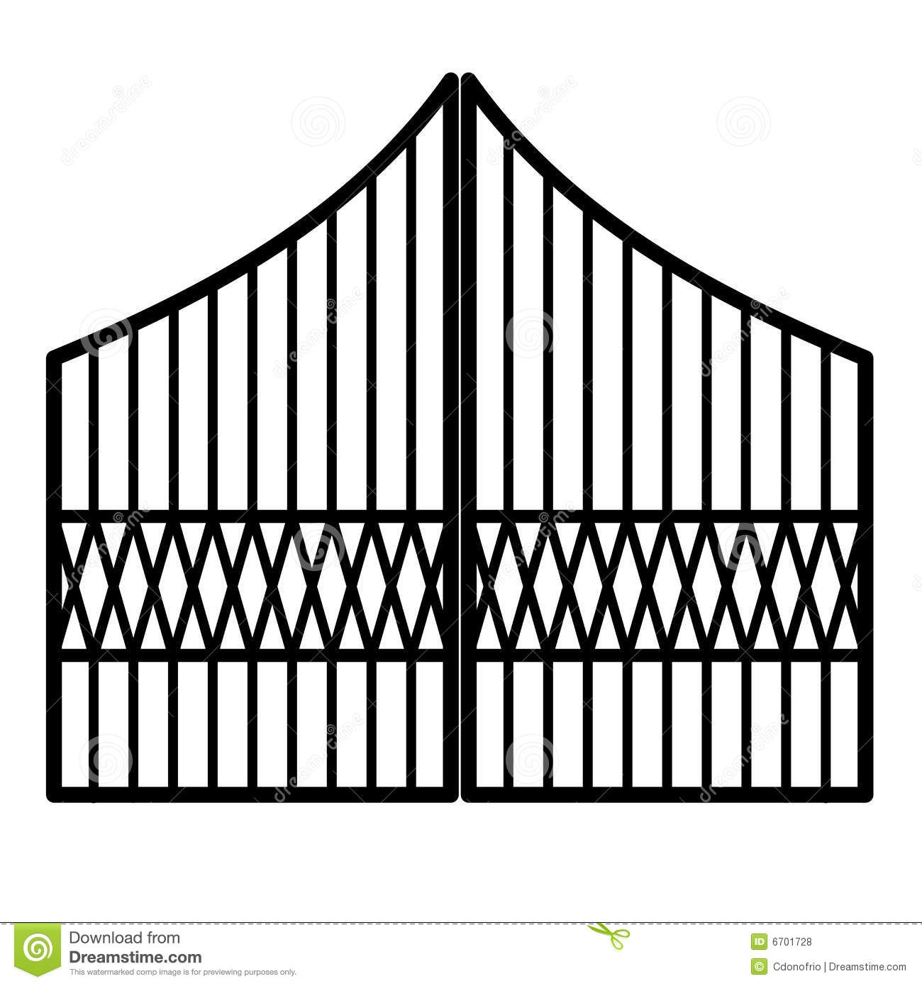 Gate clipart iron gate. Awesome collection digital k
