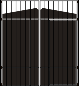 Gate clipart iron gate. Clip art at clker