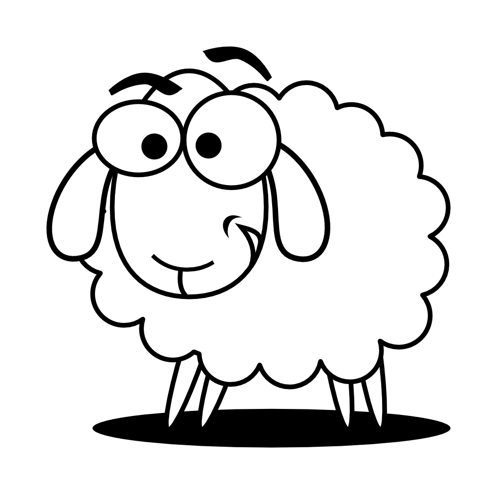 Drawing sheep bighorn. Free download clip art