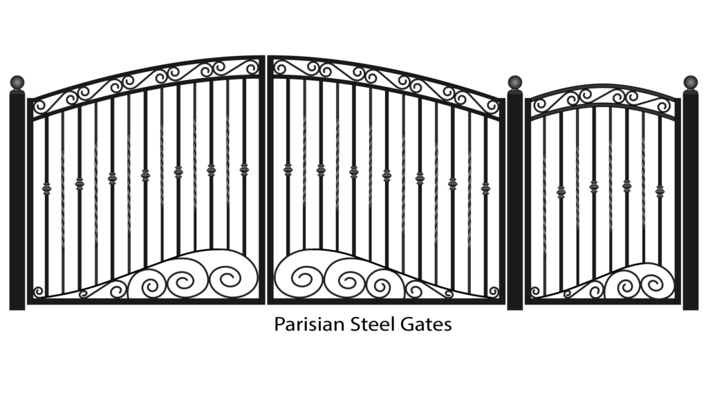 Drawing steel gates. Fancy gate png clipart