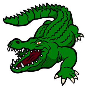 Crocodile clipart two. Fierce looking with it
