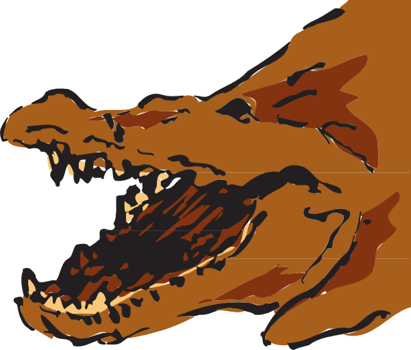 Vector alligator swamp clipart. Brown with mouth open