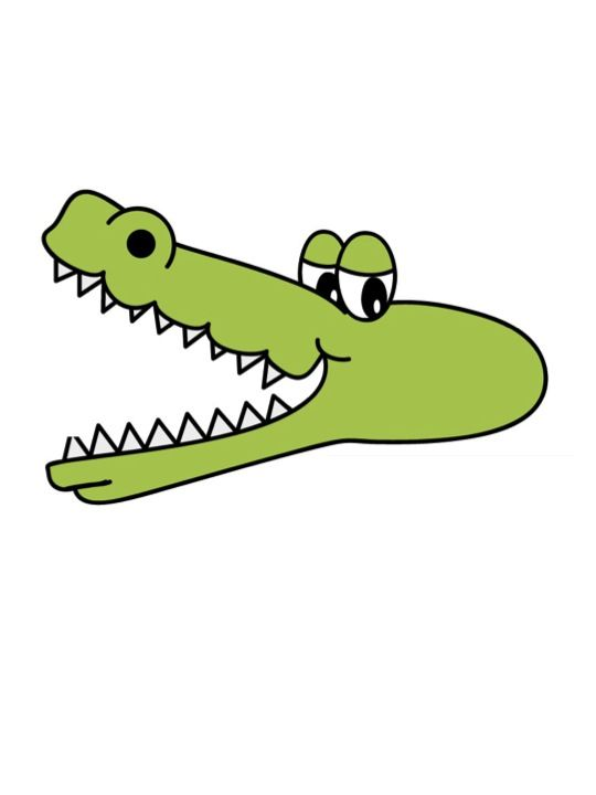 Gator clipart crocodile mouth open. Alligator with wide google