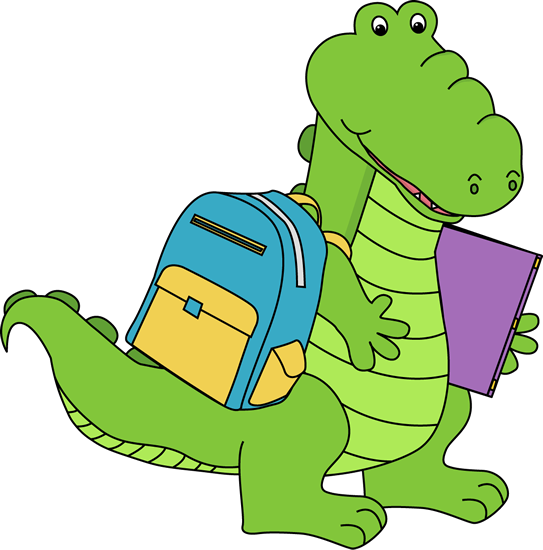 Going to school alligators. Vector alligator friendly png black and white stock