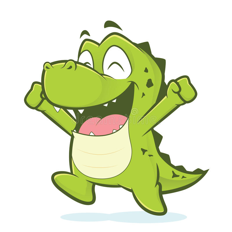 Gator clipart happy. Crocodile or alligator jumping vector free library