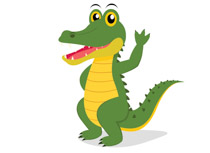 Free clip art pictures. Alligator clipart clipart black and white library