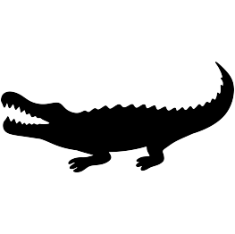 Gator svg. Alligator silhouette at getdrawings