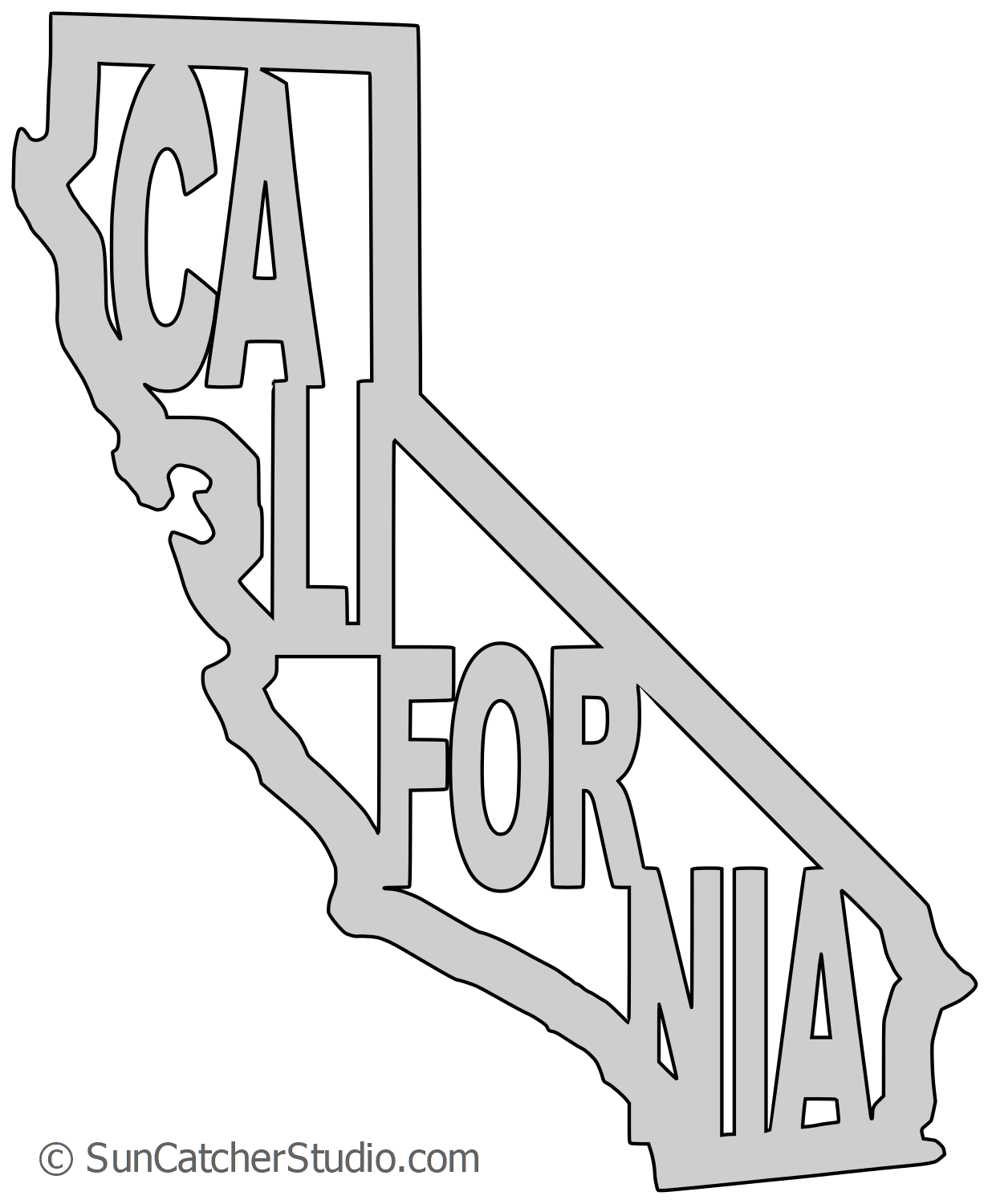 Groot svg outline. California map printable state