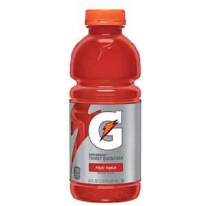 Gatorade transparent 16 oz. Fruit punch yocart