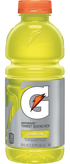 Gatorade transparent 16 oz. Lemon lime sport drinks