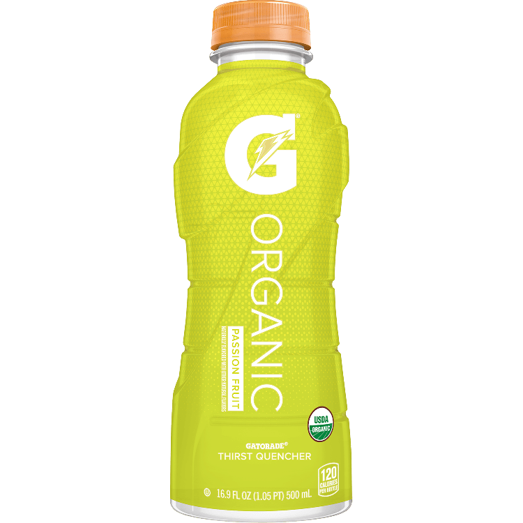 Organic thirst quencher passion. Gatorade transparent 16.9 oz banner library download