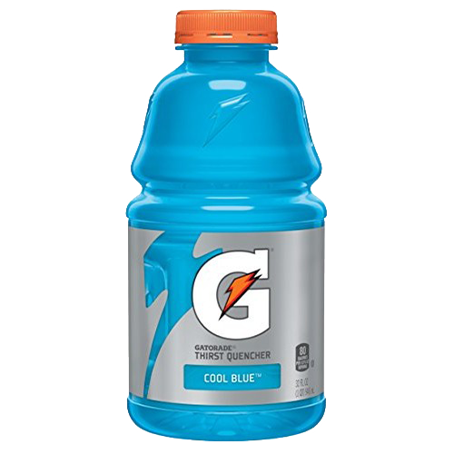 Cool blue yocart. Gatorade transparent 16 oz banner transparent stock