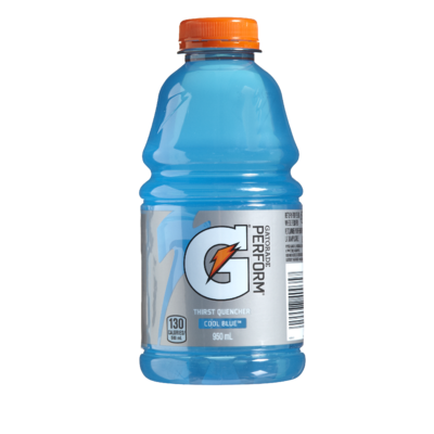 Gatorade transparent cool. Perform g thirst quencher