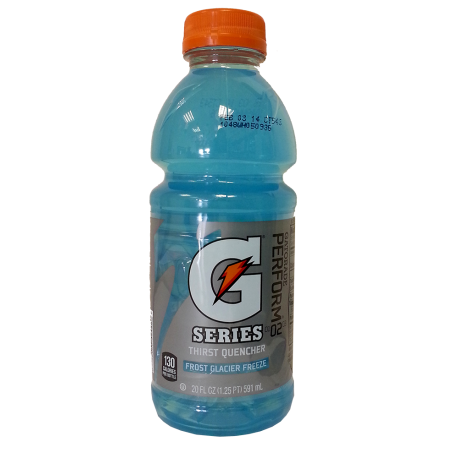 Gatorade transparent glacier freeze. Frost the american candy