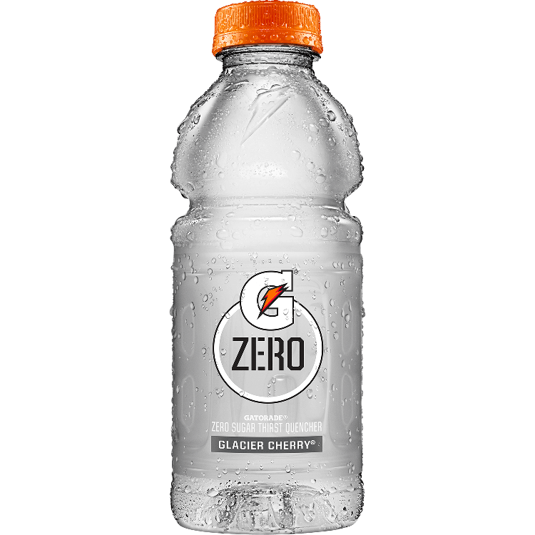 Gatorade transparent 16 oz. Zero thirst quencher variety