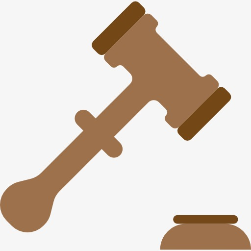 Court clipart. Grey gavel cartoon png
