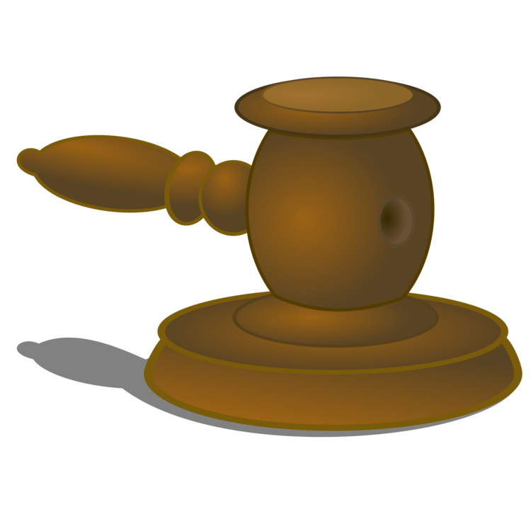 Law transparent hammer. Judge gavel court judgment