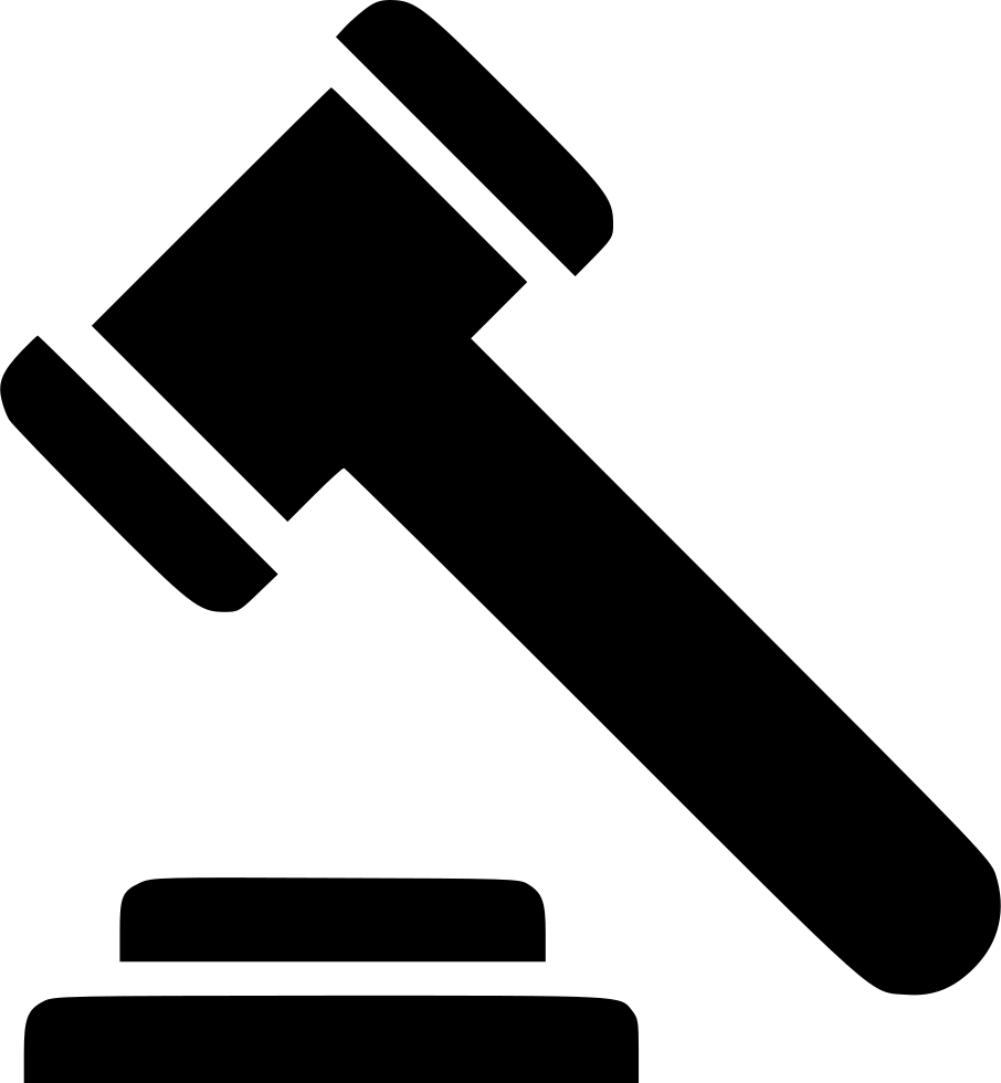 Gavel png clipart. Law svg icon free
