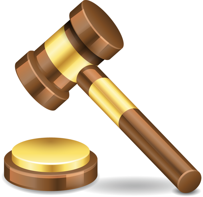 Gavel png clipart.