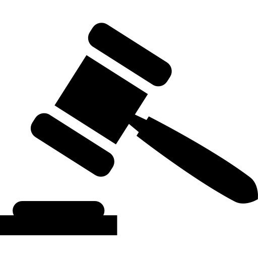 Gavel svg icon. Hammer page png