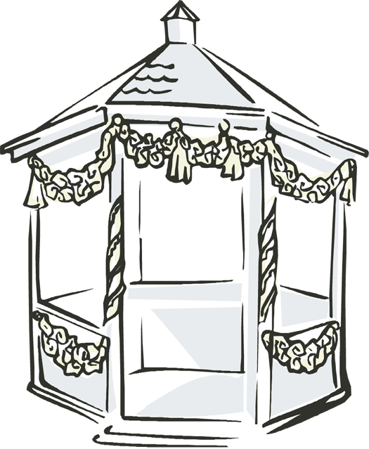 Gazebo drawing easy