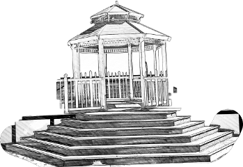 Gazebo drawing sketch. The newest stickers on