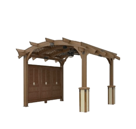 Gazebo drawing bbq. Outdoor rooms family leisure