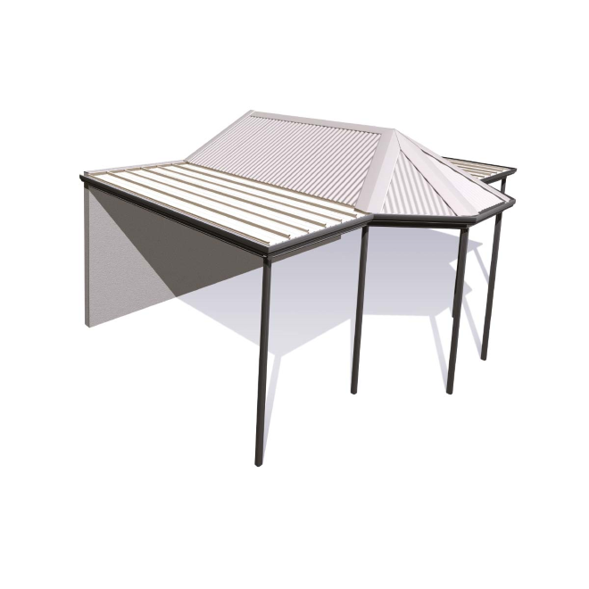 Gazebo drawing hip roof. Outback stratco